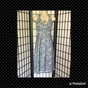J. Crew Vintage Style Blue Halter Sun Dress 12